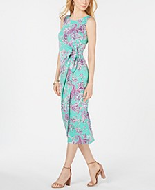 Petite Paisley Printed Sarong Midi Dress