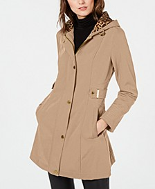 Water Resistant Hooded Raincoat, Created for Macy's