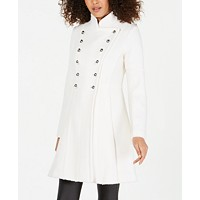 Macys deals on Guess Double-Breasted Skirted Coat