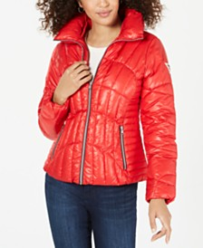 GUESS High-Shine Puffer Coat