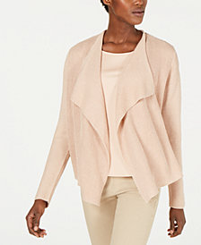 Eileen Fisher Draped-Front Cardigan Sweater, Regular & Petite
