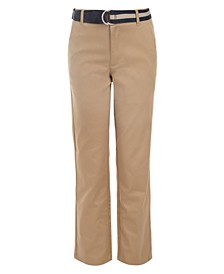 Big Boys Belted Twill Pants