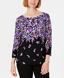 Floral-Print Sweater, Created for Macy's