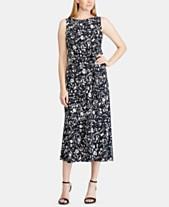 b228a1ce601c Lauren Ralph Lauren Petite Floral-Print Crepe Midi Dress