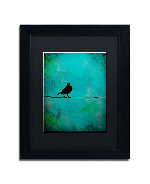 "Trademark Global Nicole Dietz 'Bird's Attention' Matted Framed Art - 14"" x 11"""