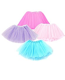 One Size Girls Tutu Skirts Set Of 4