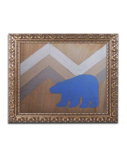 "Trademark Global Nicole Dietz 'Blue Polar Bear' Ornate Framed Art - 11"" x 14"""