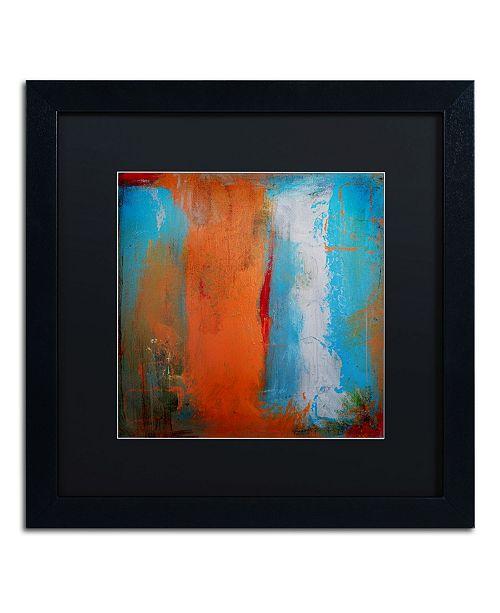 """Trademark Global Nicole Dietz 'Orange Swatch' Matted Framed Art - 16"""" x 16"""""""