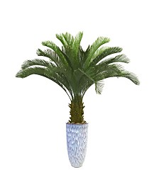 "Laura Ashley 67.5"" Palm Tree Artificial Faux decor in Resin Planter"