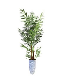 "Laura Ashley 95.5"" Palm Tree Artificial Faux decor in Resin Planter"