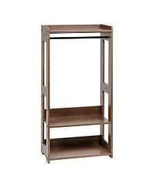 Compact Wood Garment Rack