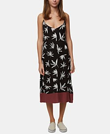 Juniors' Bennett Printed Midi Dress