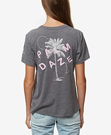 Juniors' Palm Daze Graphic-Print T-Shirt