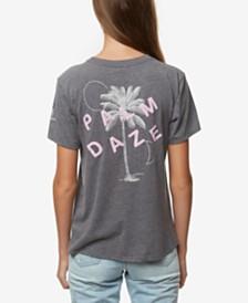 O'Neill Juniors' Palm Daze Graphic-Print T-Shirt
