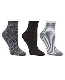 Women's 3pk Mid-Weight Ankle Cut Socks, Online Only