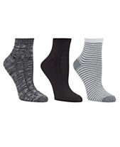 8ccee16889560 Cuddl Duds Women s 3pk Mid-Weight Ankle Cut Socks