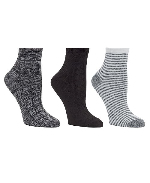 322e5ccdd7c Cuddl Duds Women s 3pk Mid-Weight Ankle Cut Socks