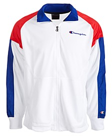Men's Mesh Colorblocked Warm-Up Jacket
