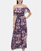 fbd2236e6d1 Tommy Hilfiger Printed Cold-Shoulder Maxi Dress