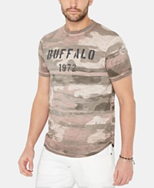 Buffalo David Bitton Men's Kijaw Camouflage Logo Graphic T-Shirt