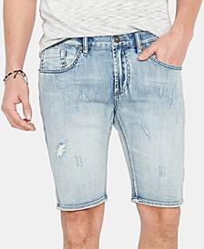 Men's Slim-Fit Denim Shorts