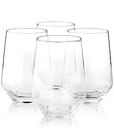 Hotel Collection Stemless Wine Glasses, Set of 4, Created For Macy's