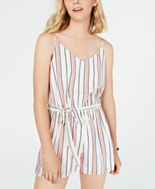 One Clothing Juniors' Tank Stripe Romper