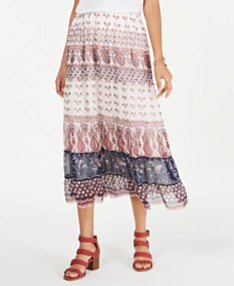 ba02f06a2 Style & Co Petite Printed Woven Midi Skirt, Created for Macy's