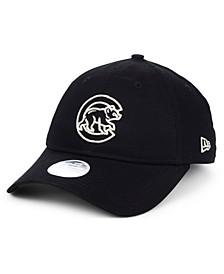 Women's Chicago Cubs Foil Script Hook 9TWENTY Strapback Cap