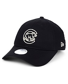 New Era Women's Chicago Cubs Foil Script Hook 9TWENTY Strapback Cap