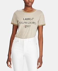 Lauren Ralph Lauren Logo Graphic-Print T-Shirt