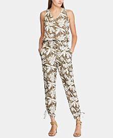 Lauren Ralph Lauren Botanical-Print Crepe Jumpsuit