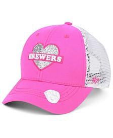 '47 Brand Girls' Milwaukee Brewers Sweetheart Meshback MVP Cap