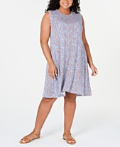 8cb4484ab1473 Style & Co Plus Size Printed Swing Dress, Created for Macy's