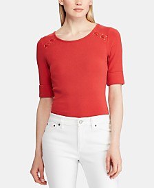 Lauren Ralph Lauren Lace-Up Top