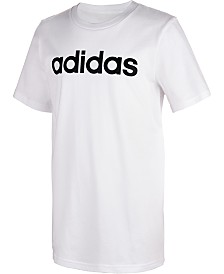 adidas Big Boys Logo-Print Cotton T-Shirt