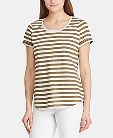 Stripe-Print Cotton T-Shirt