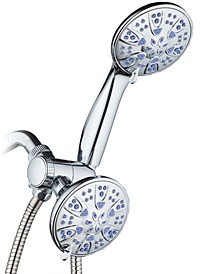 Antimicrobial 30-setting Shower Combo,  Sunset Blue Jets