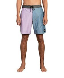 RVCA Men's South Eastern Stretch Colorblocked Swim Trunks