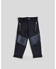 Big and Toddler Boy's Mixed Media with Slant Pocket Pant