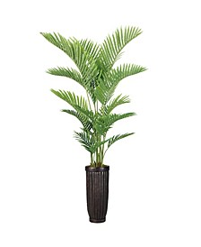 "84"" Real Touch Palm Tree in Fiberstone Planter"