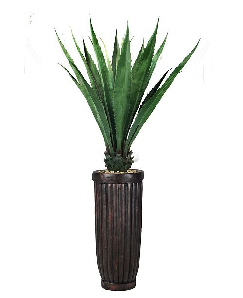 "Laura Ashley 72"" Agave, Indoor/Outdoor in Fiberstone Planter"