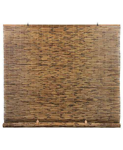 "RADIANCE Peeled and Polished Reed Cord Free Roll-Up Shade, 48"" x 72"""