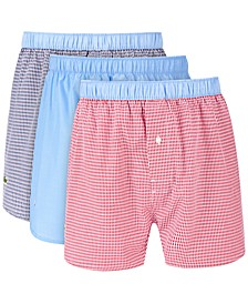 Men's 3-Pk. Cotton Woven Boxers