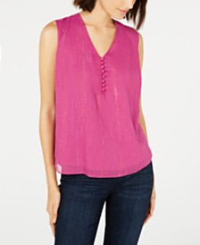 Maison Jules Layered V-Neck Sleeveless Blouse, Created For Macy's