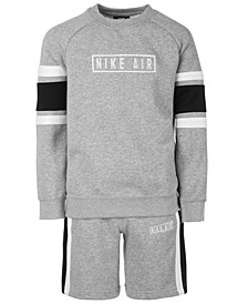 Big Boys Air Logo Sweatshirt & Shorts Separates