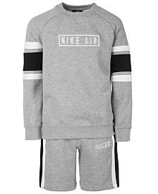 Nike Big Boys Air Logo Sweatshirt & Shorts Separates