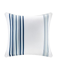 "Newport 20"" x 20"" Printed Stripe 3M Scotch Gard Outdoor Square Pillow"