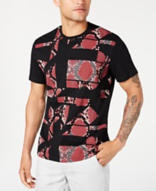 I.N.C. Men's Shattered Snake T-Shirt, Created for Macy's