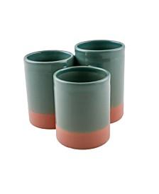 Thirstystone La Dolce Vita Ceramic 3-Section Flatware Caddy